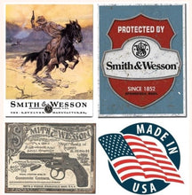 Desperate 3 Pack SMITH AND WESSON Vintage Sign Set Made in USA! Firearms Western\ # 1876\# 1682\# 2014