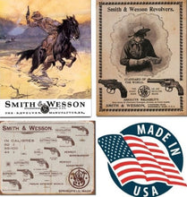 Desperate 3 Pack SMITH AND WESSON Vintage Sign Set Made in USA! Firearms Western\# 1876\ # 1464\ # 1466