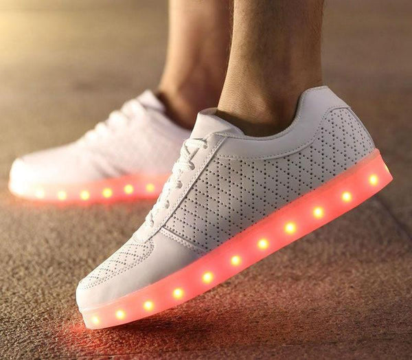 Breathable  Flat LED Light  Shoes with USB Recharge option