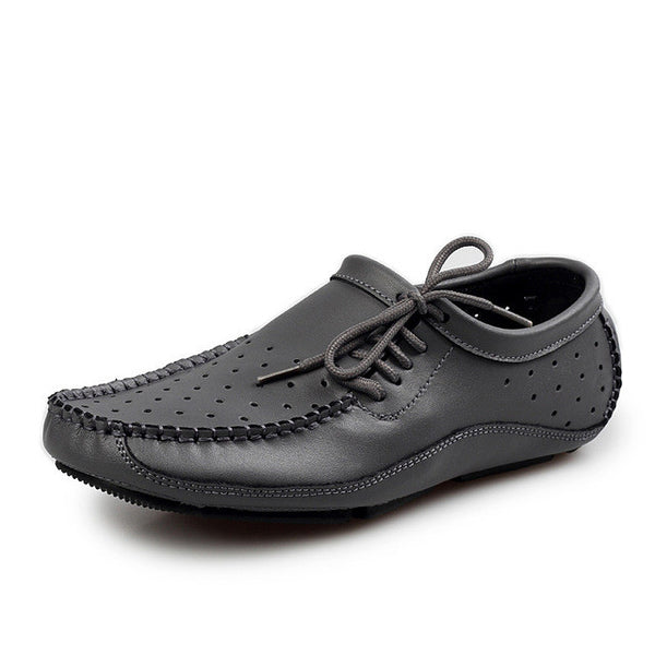 Genuine Leather Men's Loafers or Flats Casual Driving Shoes