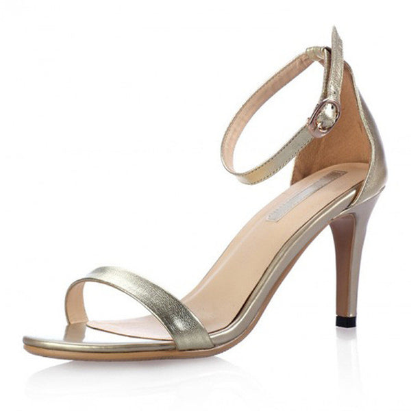 Vogue Gold Silver Women Classic Dancing High Heel Sandals