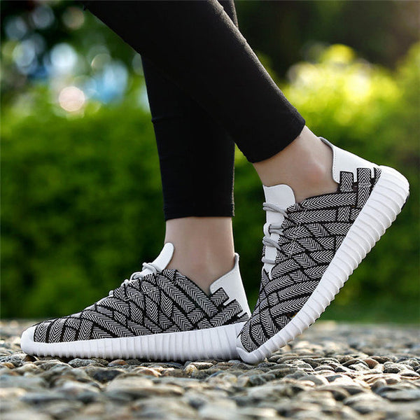 Fashion Unisex Casual Glitter Breathable Couple Shoes with Durable Lace-Up