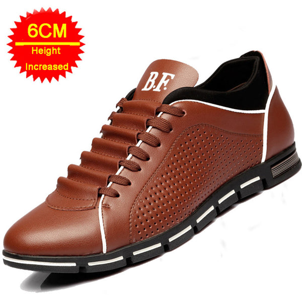 New Height Increase Casual Men Shoes Genuine Leather shoes