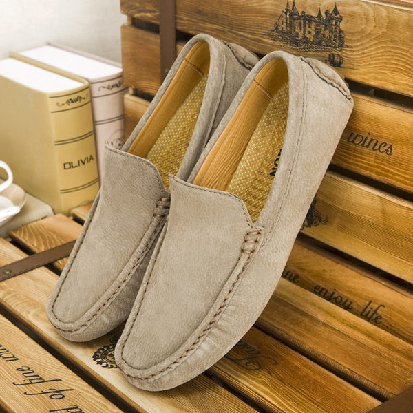 Fashion Moccasins: Soft Men Loafers High Quality Genuine Leather Shoes