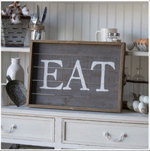 'EAT' Wood Tray
