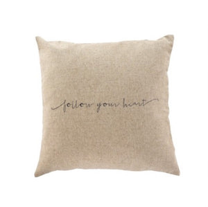 20x20 Follow heart linen cushion