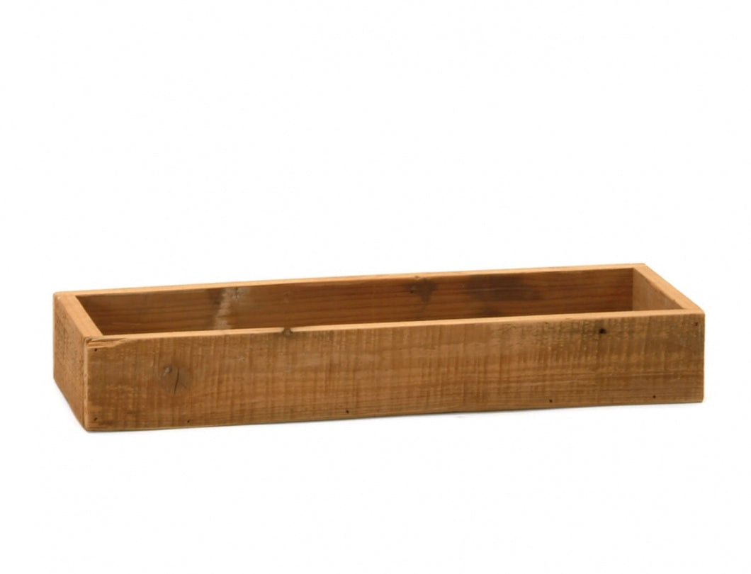 Rectangular wood tray