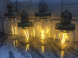 "21"" Solar mason jar light"