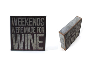 Galvanized Wine Sign-2 styles
