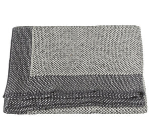 Grey metallic knit throw