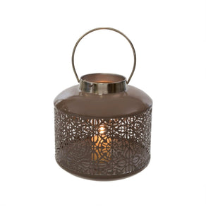Warm Grey Cutout Lantern