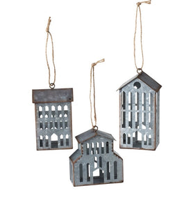 Galvanized house/barn ornament