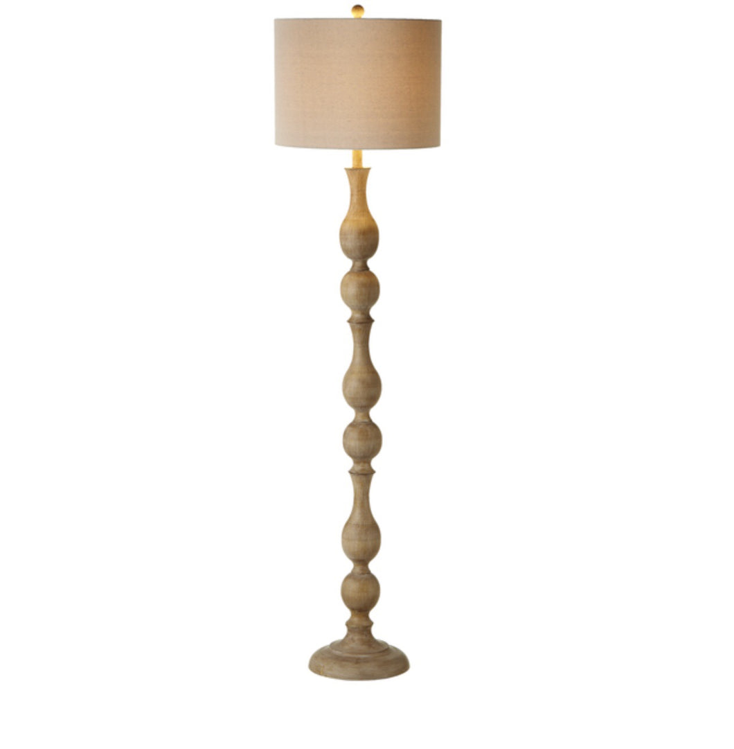 Faux Wood-turned floor lamp