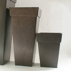 Brown Metal Planters-2 sizes