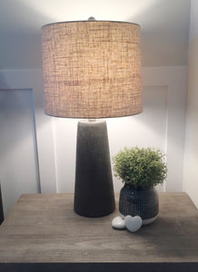 Cross hatch table lamp