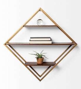 Diamond Shape Wall-mount Shelf