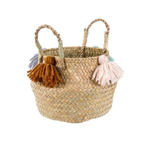Baby Belly Basket w Tassels