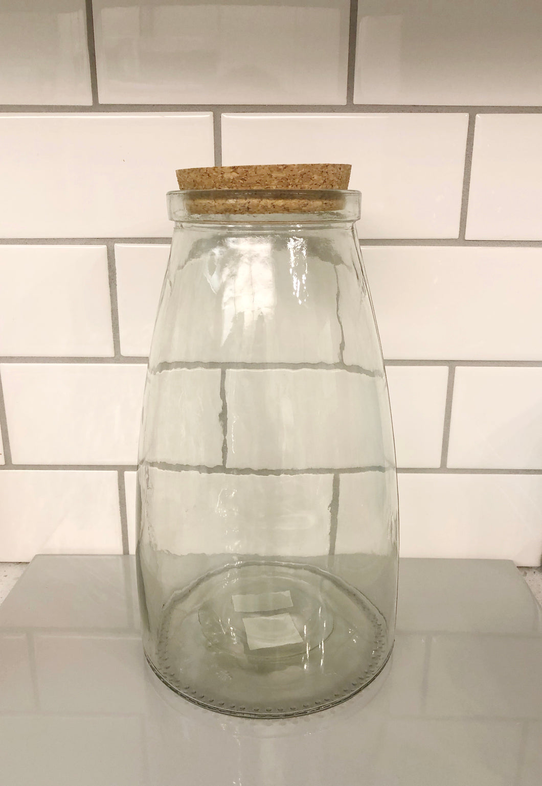 Glass Storage Jar w Cork Lid