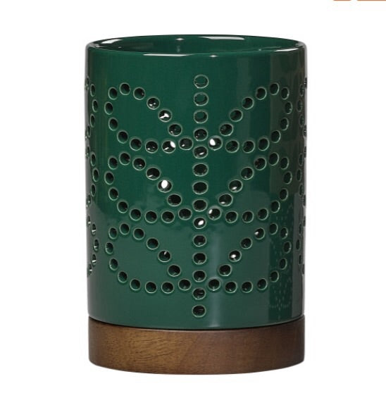 Small Ceramic candle holder- Green