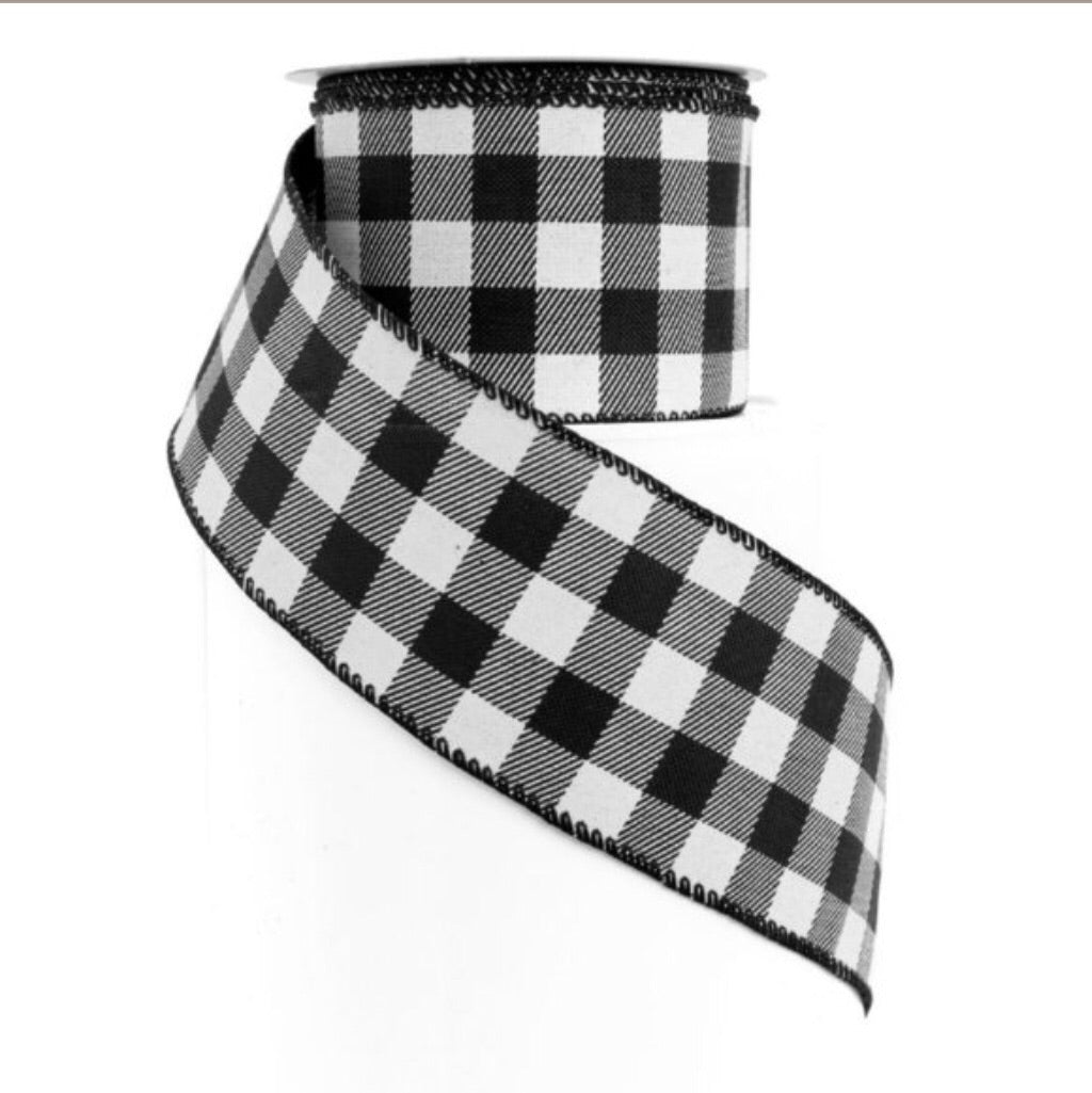 Blk&White checked ribbon