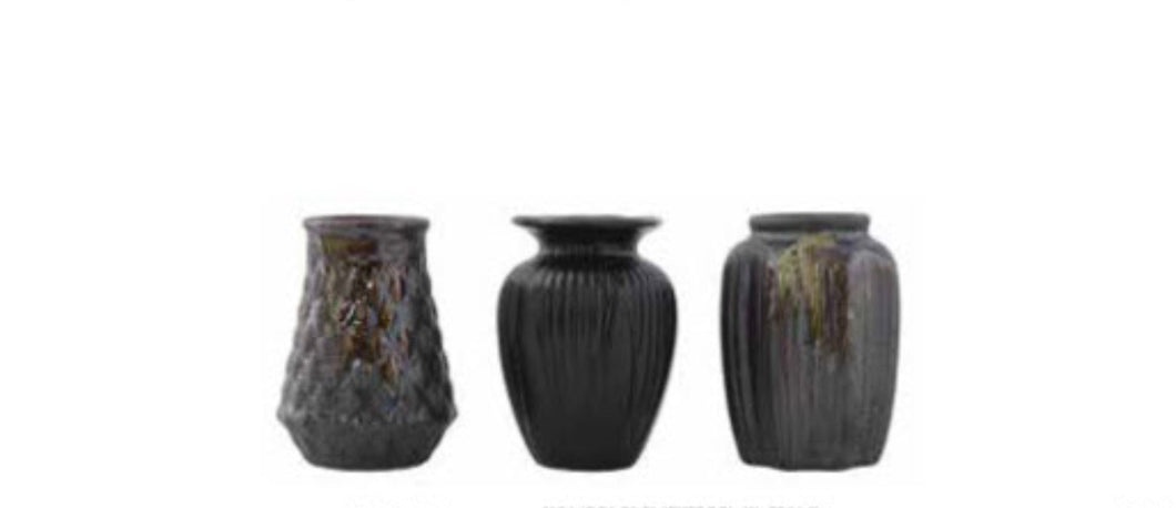 S/3 Mini Vase Reactive Glaze