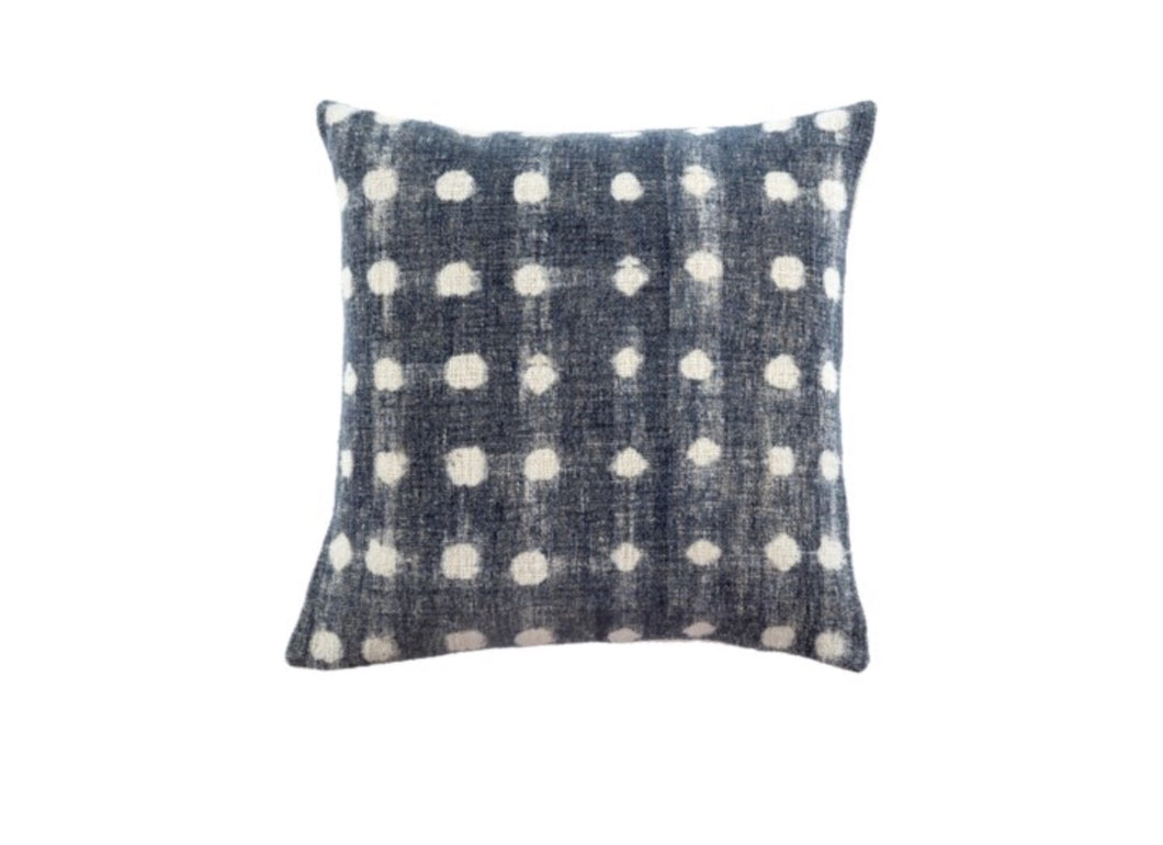 20x20 Indigo Dot Cushion