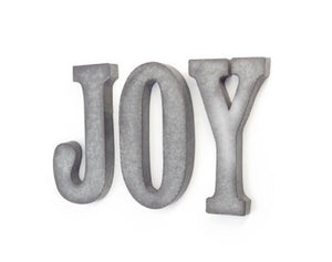 Galvanized JOY wall art