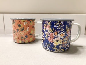 Floral enamel mug -2colors