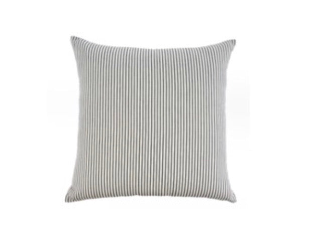 24x24 Ticking cushion-Black