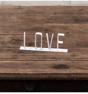 'Love' Metal Tabletop Sign