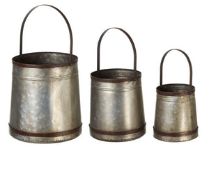 Galvanized bucket w handle-3sizes