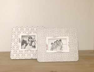 S/2 Embossed Picture Frames