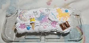 FREE US SHIPPING Unicorn Ice Cream Star Nintendo Switch Lite Deco Case