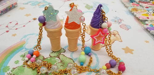 Bubble Ice Cream Necklaces