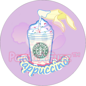 Fappuccino Frappe Lewd Kawaii Cute Button Pin