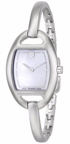 Movado Miri White Mother of Pearl Dial Bangle Women's Watch 0606606