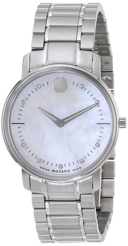 Movado TC 9 Diamonds White Mother of Pearl Women's Watch 0606691