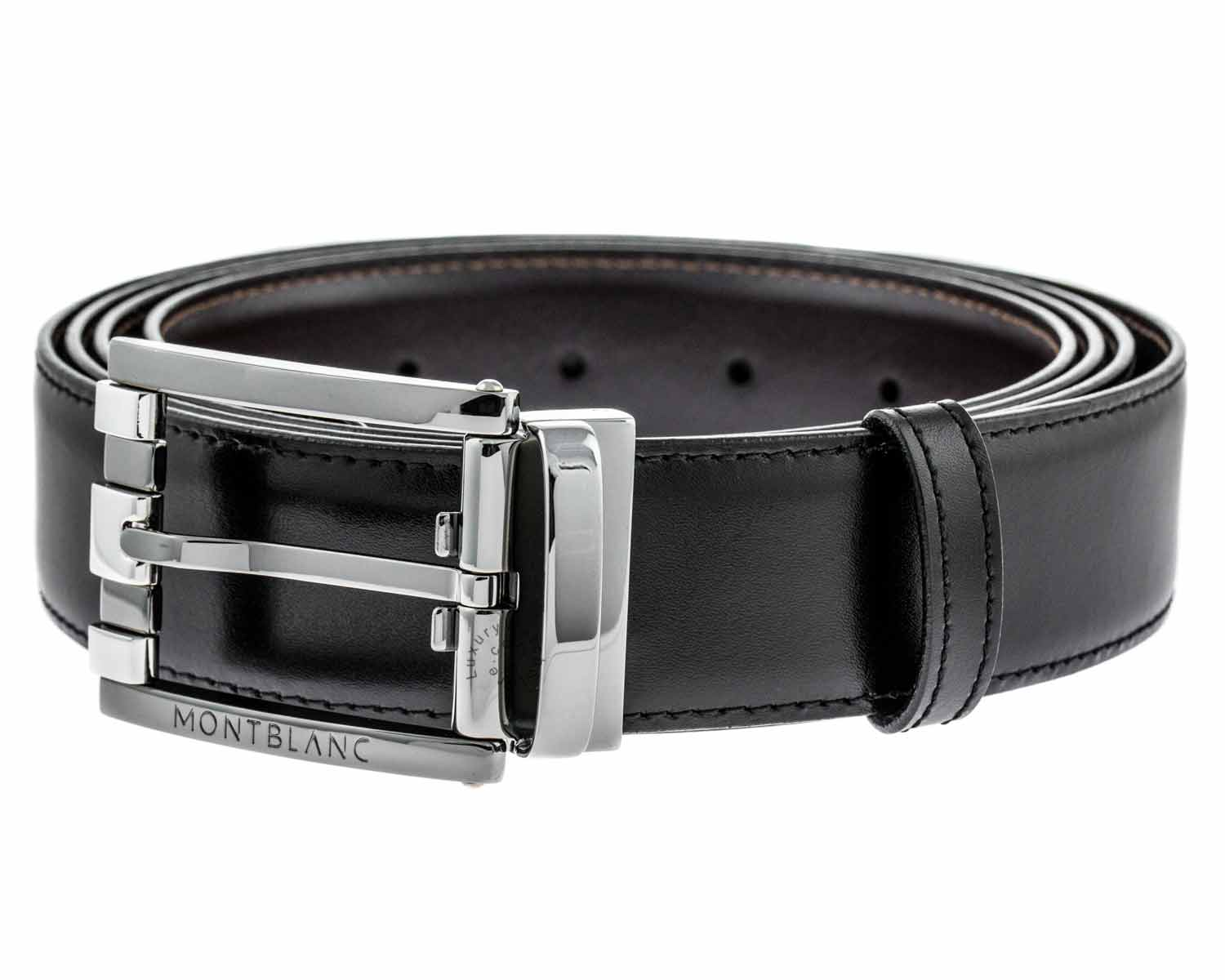 Montblanc 103445 Classic Line Men's Reversible Leather Belt