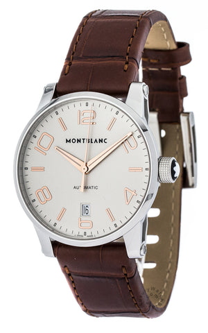 Montblanc Timewalker Collection BRN Leather Automatic Men Watch 105813