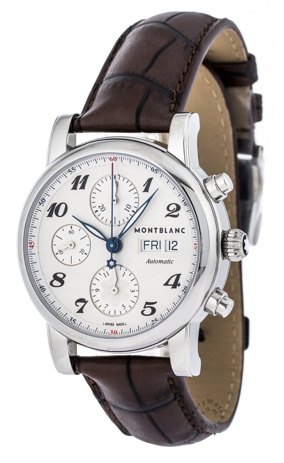 Montblanc Star Chronograph Brown Leather Automatic Men Watch 106466