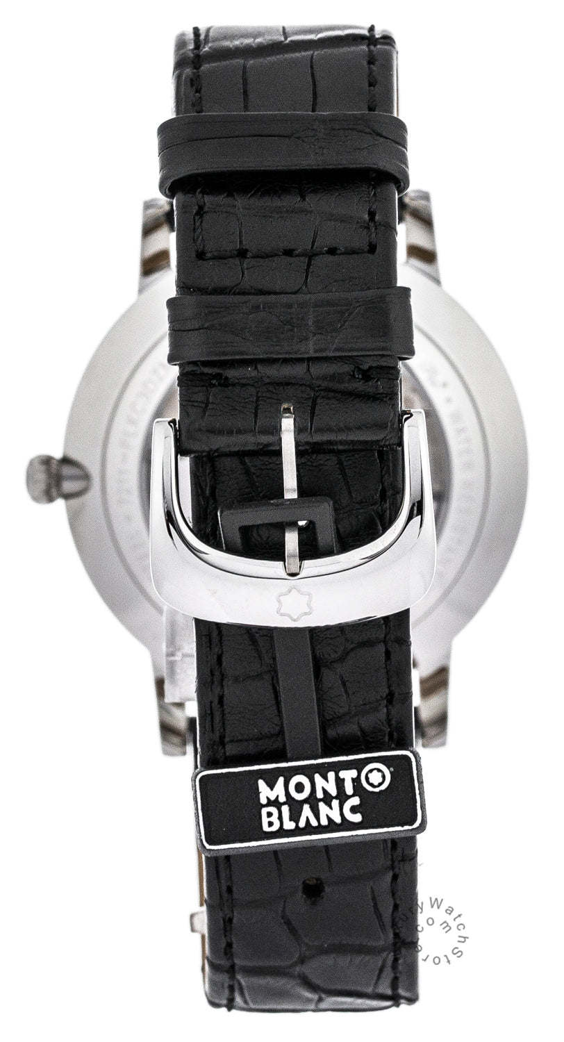 Montblanc Star Classique Black Leather Automatic Men's Watch 107072