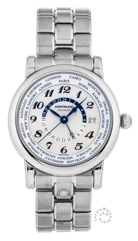 Montblanc Star World-Time GMT Silver Dial Automatic Men's Watch 109286