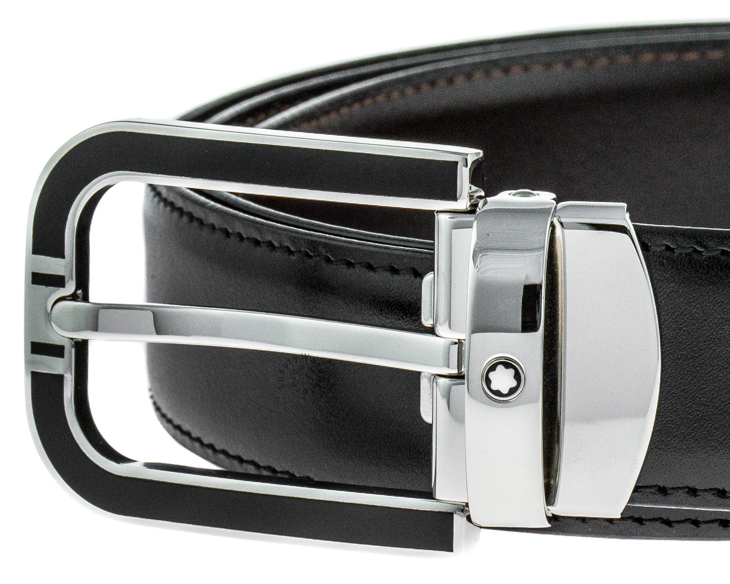 Montblanc Classic Line Horseshoe Shaped Men's Leather Belt 109740