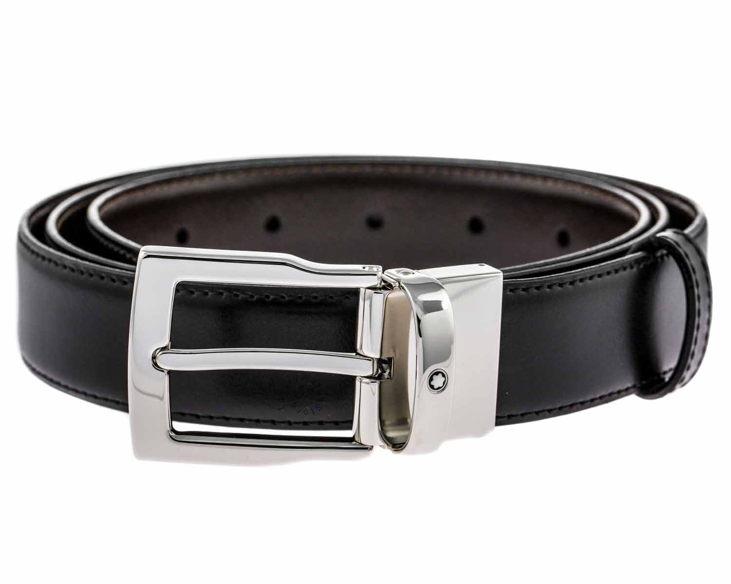 Montblanc Classic Line Men's Reversible Leather Belt 109738