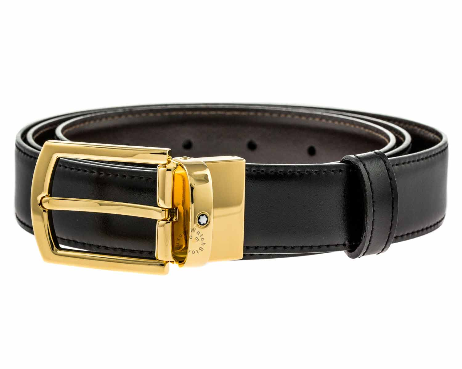 Montblanc Classic Line Men's Reversible Leather Belt 109739