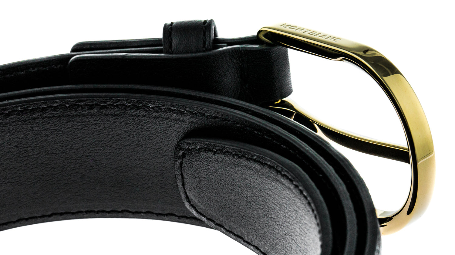 Montblanc 109747 Classic Line Horseshoe Men's Leather Belt