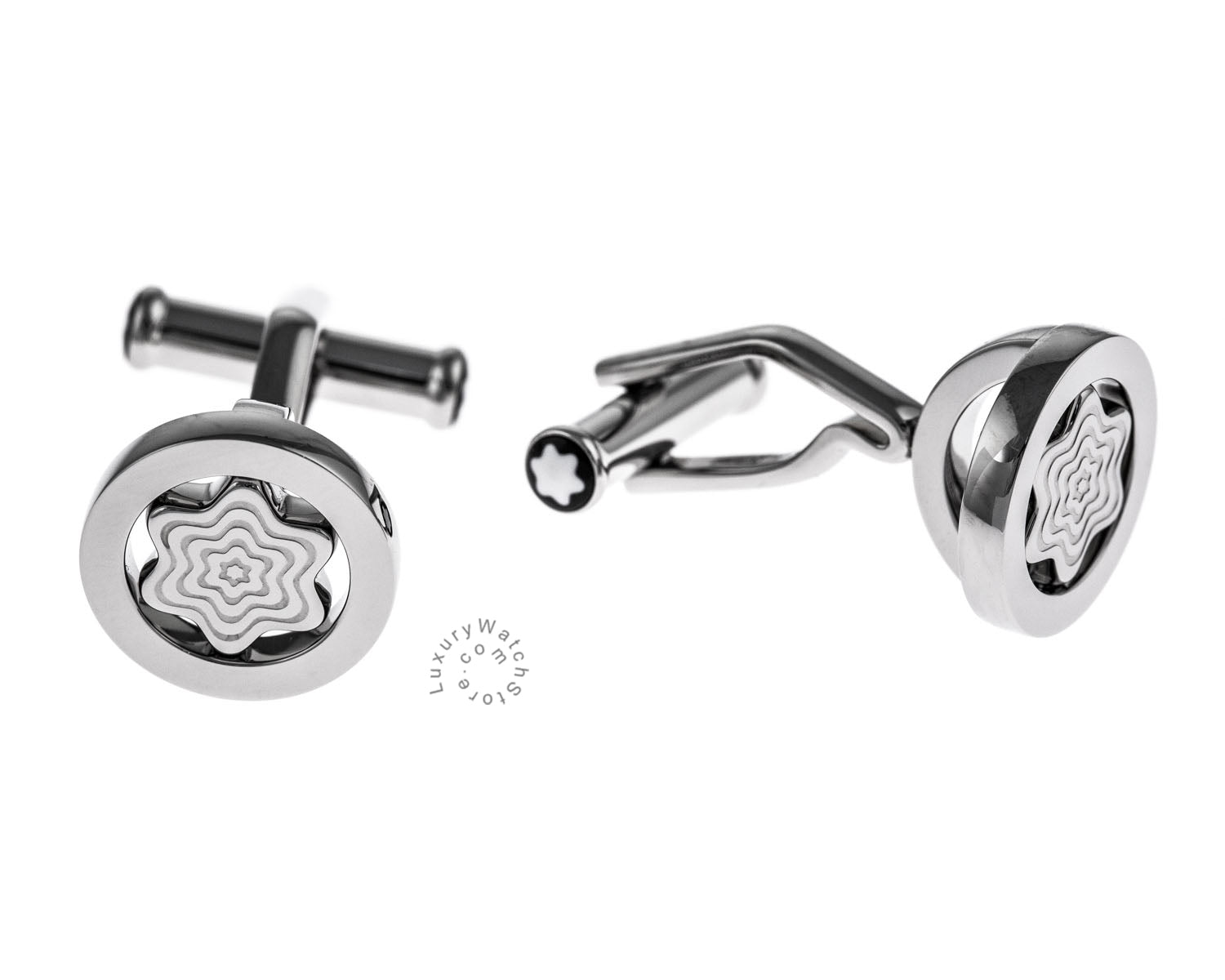 Montblanc Iconic Bar Swivel Star Stainless Steel Cuff Links 109992