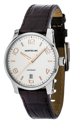 Montblanc TimeWalker Date BRN Leather Band Automatic Men Watch 110340