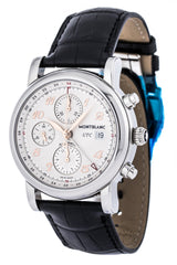 Montblanc Star Chronograph UTC Leather Band Automatic Men Watch 110590