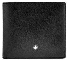 Montblanc 111125 Meisterstück Soft Grain Wallet 4cc Black Leather